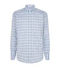 Turnbull And Asser Grid Checked Shirt Male Blue