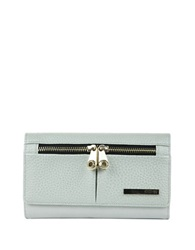 Kenneth Cole Reaction Wooster Street Leather Wristlet Grey Wheat