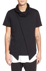 Men's Antony Morato Asymmetrical Funnel Neck T Shirt
