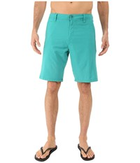 O'neill Locked Overdye Hybrid Boardshorts Aqua Men's Swimwear Blue