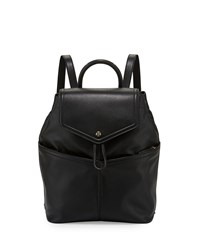 Tory Burch Avery Leather Backpack Black