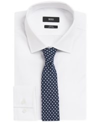 Hugo Boss Boss Patterned Linen Tie Navy
