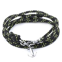 Anchor And Crew All Black Kedge Rope Bracelet