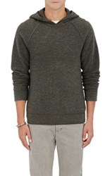 James Perse Men's Cashmere Thermal Hoodie Grey