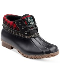 G.H. Bass And Co. Women's Dorothy Ankle Duck Boots Women's Shoes Red Black Plaid