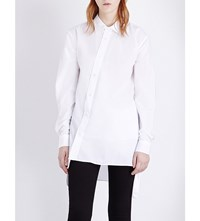 Izzue Asymmetric Detail Cotton Shirt White