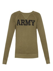 Nlst Army Print Cotton Jersey Sweatshirt