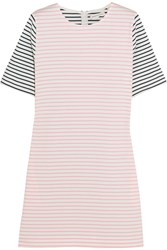 Chinti And Parker Striped Cotton Jersey Mini Dress Pastel Pink