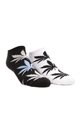 Huf 2 Pack No Show Plantlife Socks Black And White