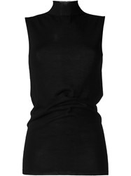 Rick Owens Knitted Sleeveless Top Black