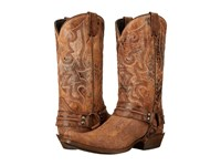 Stetson Outlaw Distressed Brown Cowboy Boots