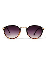 Jeepers Peepers Casper Round Lens Tort Sunglasses Brown