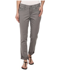 Christopher Blue Diane Roll Boyfriend Carmel Twill Cool Grey Women's Casual Pants Gray
