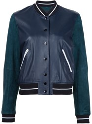 Rag And Bone 'Alix' Bomber Jacket Blue