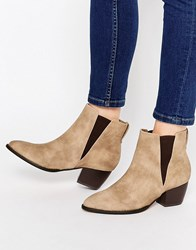London Rebel Point Chelsea Boots Taupe Mf Beige