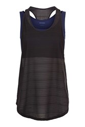 Topshop Double Layer Mesh Vest By Ivy Park Navy Blue