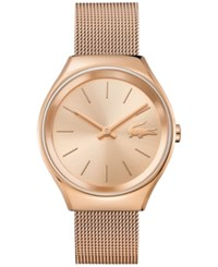 Lacoste Women's Valencia Rose Gold Tone Stainless Steel Mesh Bracelet Watch 38Mm 2000953