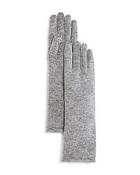 Bloomingdale's C By Cashmere Angelina Gloves Pale Gray