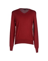 A Deep Knitwear Jumpers Men Maroon