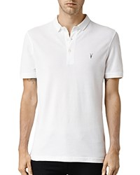 Allsaints Reform Slim Fit Polo Shirt Optic White