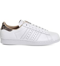 Adidas Superstar 80S Leather Trainers White Rose Snake