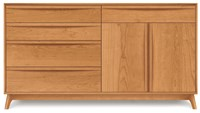 Copeland Furniture Catalina 4 Drawer On Left 1 Drawer Over 2 Door On Right Buffet