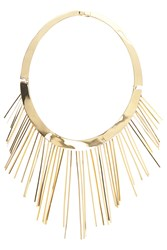 Eddie Borgo Plated Fringe Collar Necklace Gold