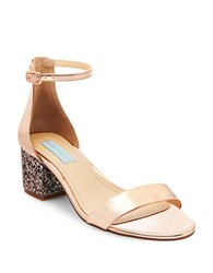 Betsey Johnson Jayce Two Piece Dress Sandal Rose Gold
