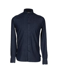Guy Rover Denim Denim Shirts Men Blue