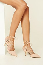 Forever 21 Strappy Faux Suede Pumps