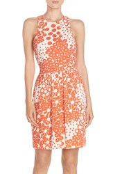 Women's Trina Turk 'Lenia' Print Pique Fit And Flare Dress