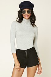 Forever 21 Heathered Mock Neck Top