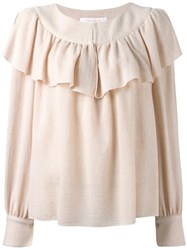See By Chloe Frill Detail Blouse Pink Purple