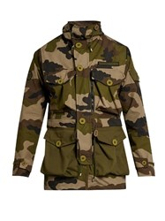 Mastercraft Union Camouflage Print Hooded Jacket Khaki