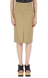 Isabel Marant Women's Stanton Cotton Linen Pencil Skirt Beige
