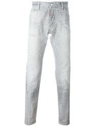 Dsquared2 Distressed Jeans Grey