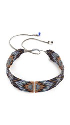 Mishky Macui Choker Necklace Blue Multi
