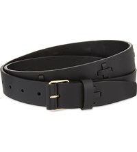 Givenchy Crosses Leather Belt Black