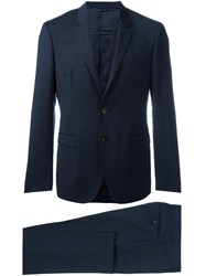 Tonello Fitted Dinner Suit Blue