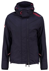 Superdry Summer Jacket Nautical Navy Rebel Red Dark Blue