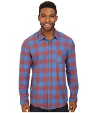 Quiksilver Motherfly Flannel Wild Ginger Men's Clothing Red