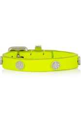 Marc By Marc Jacobs Neon Studded Leather Bracelet