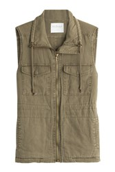 Velvet Linen Cotton Vest Green