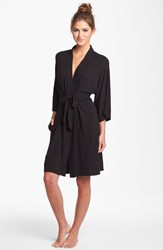 Women's Dkny 'Urban Essentials' Robe Black