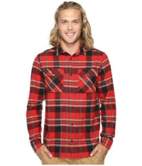 Fox Glamper Long Sleeve Flannel Red Men's Clothing