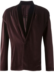 Haider Ackermann Shawl Collar Velvet Blazer Pink And Purple