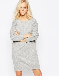 Selected Dalia Long Sleeve Sweat Dress In Gray Mgm