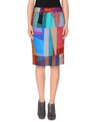Paul By Paul Smith Skirts Knee Length Skirts Women Coral