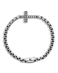 David Yurman Pave Cross Bracelet With Diamonds