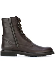 Tod's Lace Up Combat Boots Brown